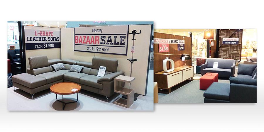 Lifestorey sale campaigns for Design agency singapore