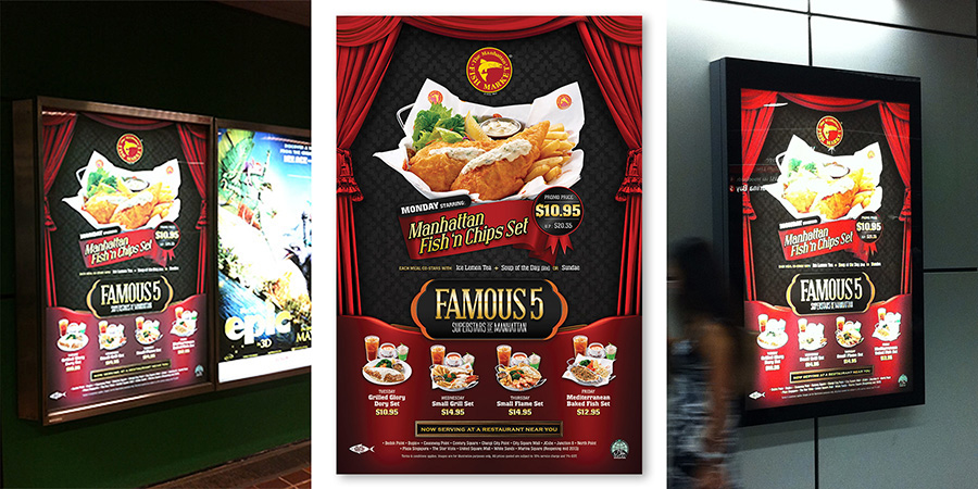 Manhattan fish market for Design agency singapore
