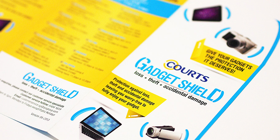 Courts gadgetshield for Design agency singapore